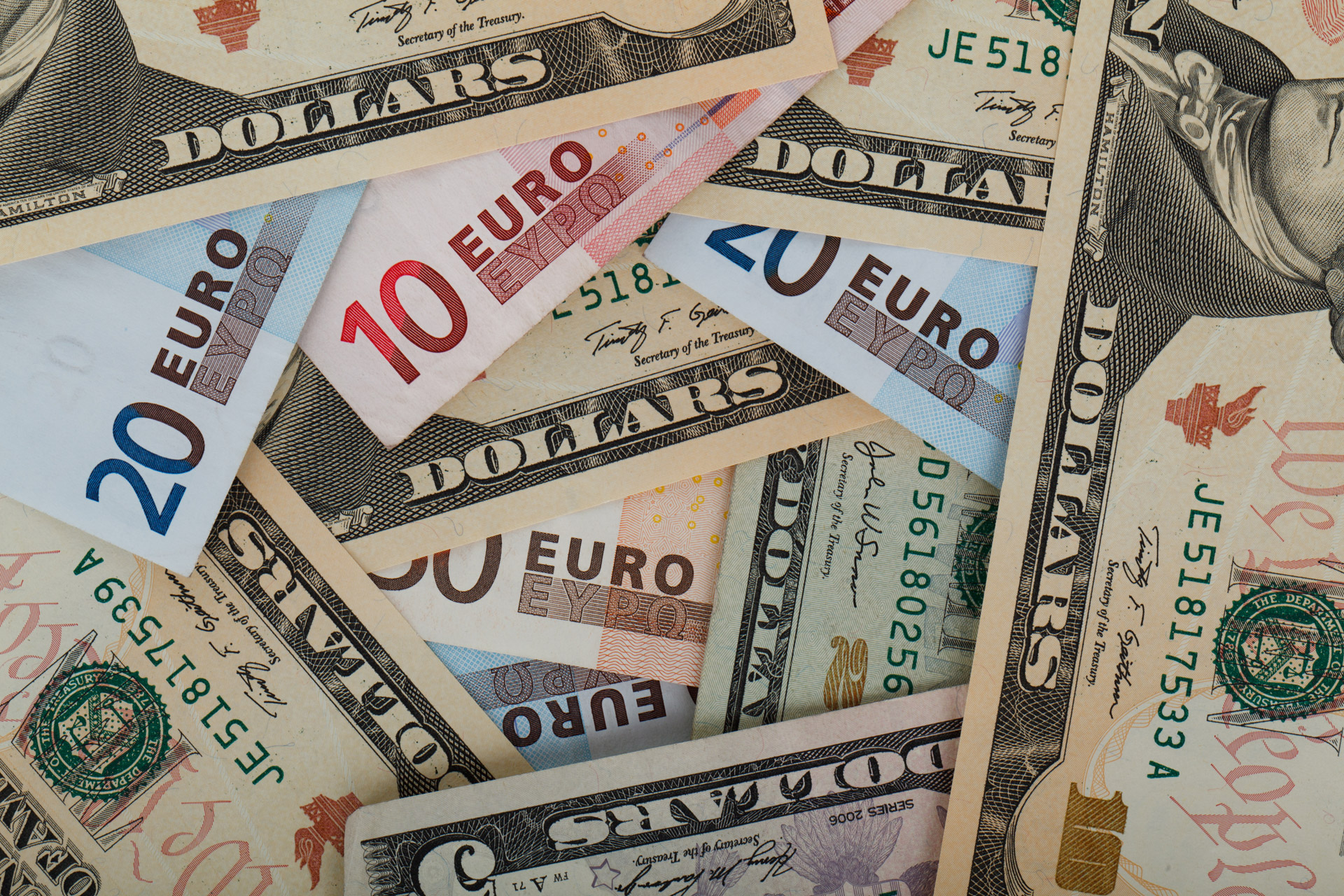 dollars-and-euros-background